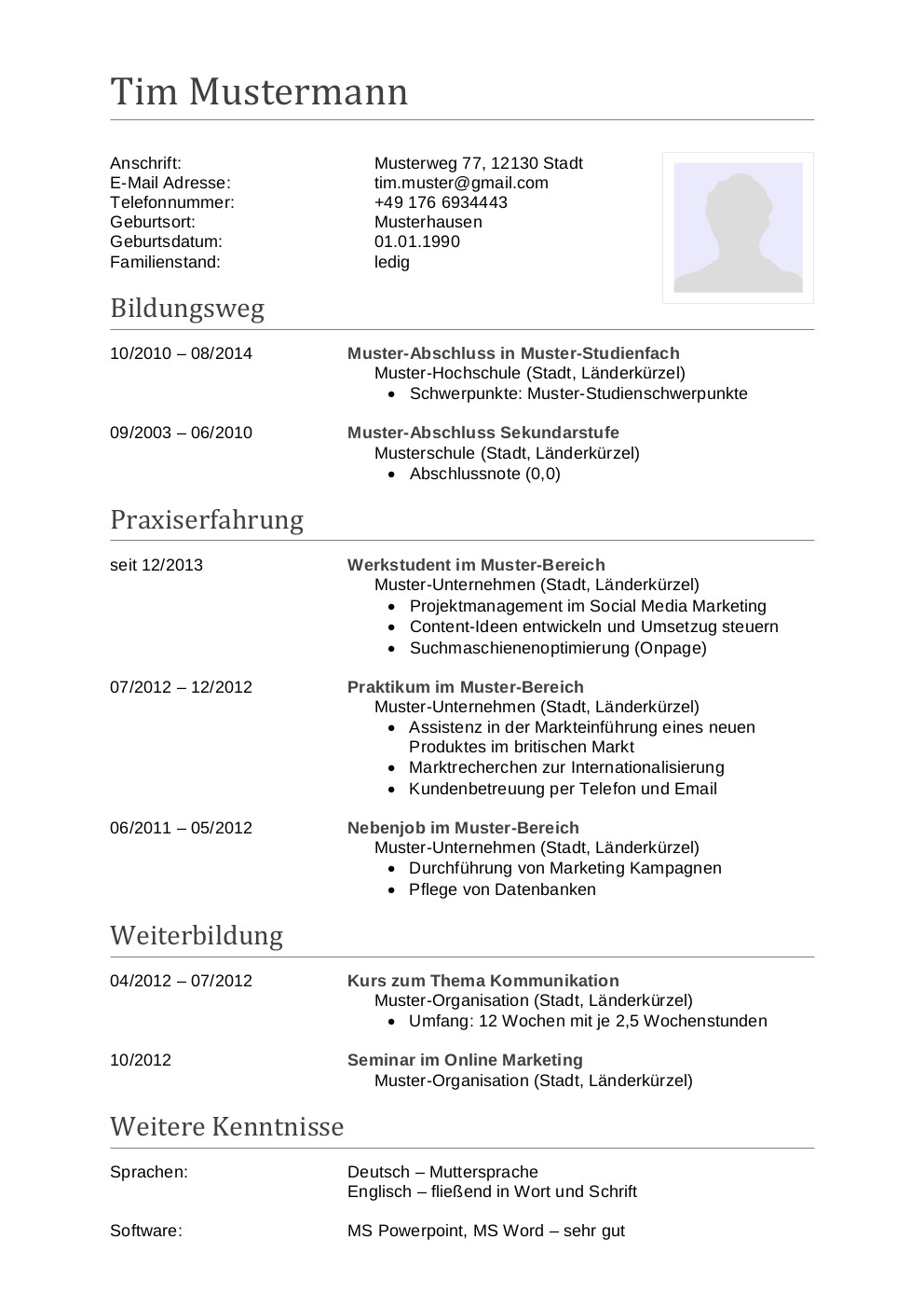 Nett Ergotherapie Vorlage Bilder - Entry Level Resume Vorlagen ...