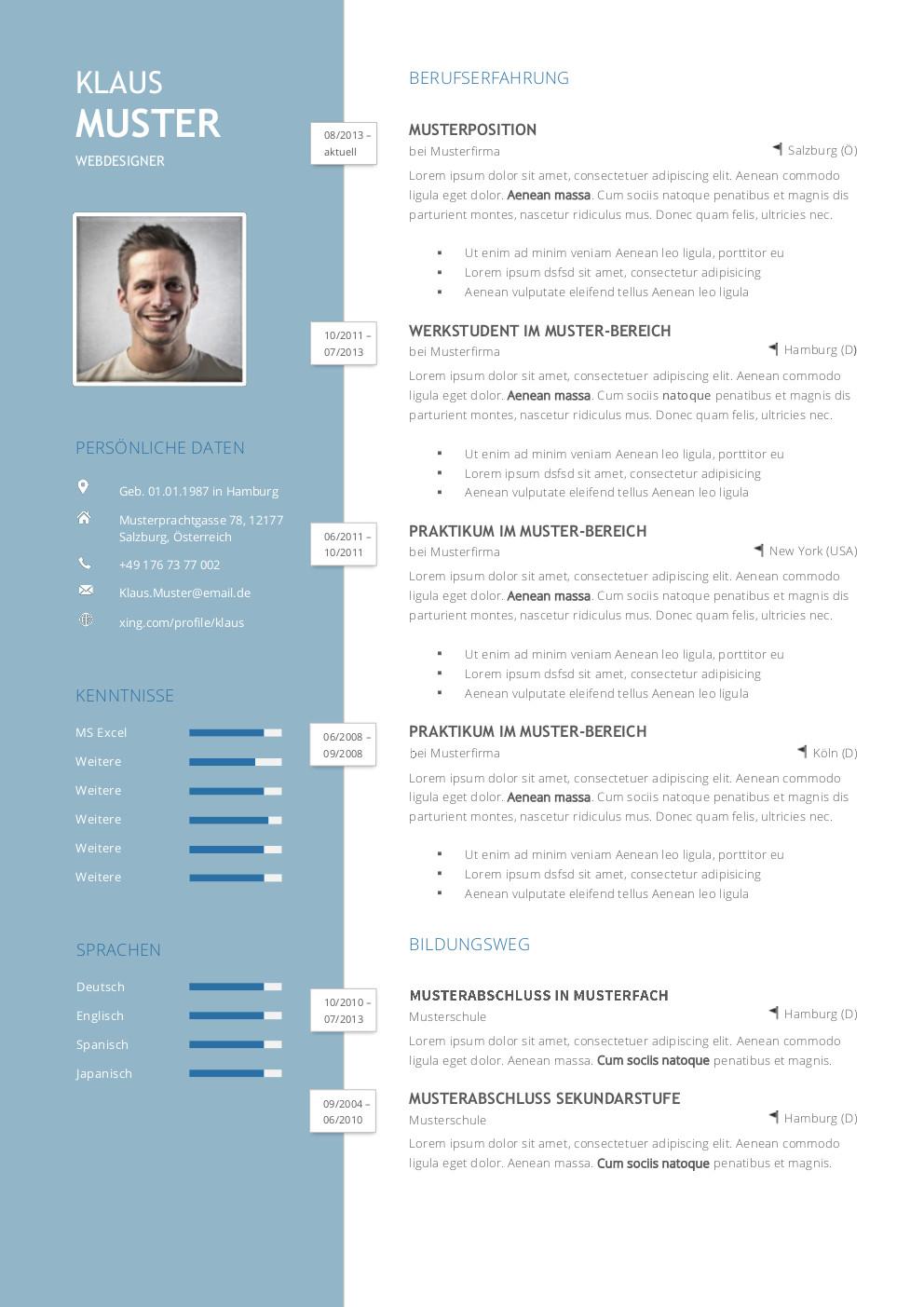 Erfreut Kreative Lebenslauf Beispiele Fotos - Entry Level Resume ...