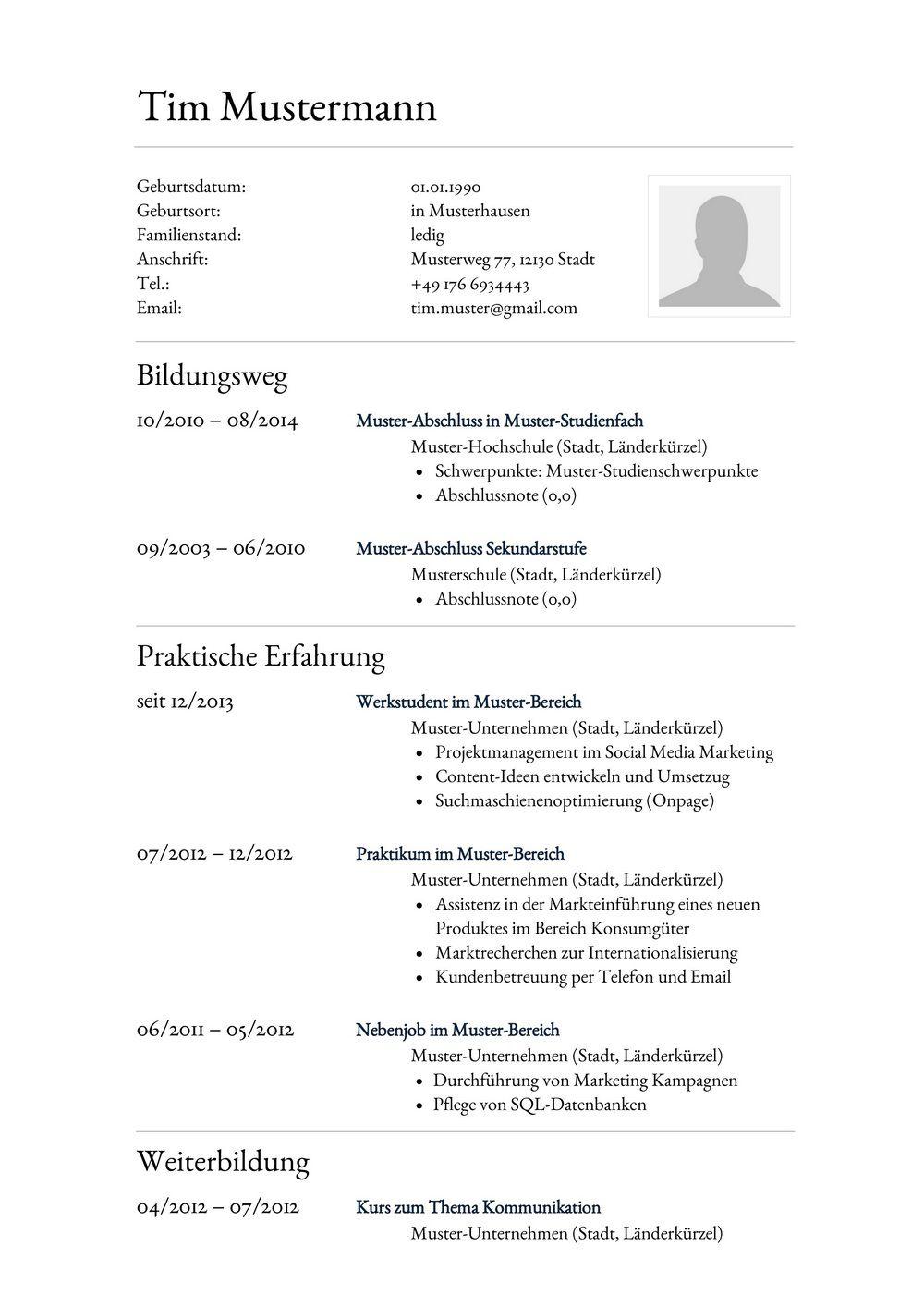 Lebenslauf Muster für Assistent | Lebenslauf Designs