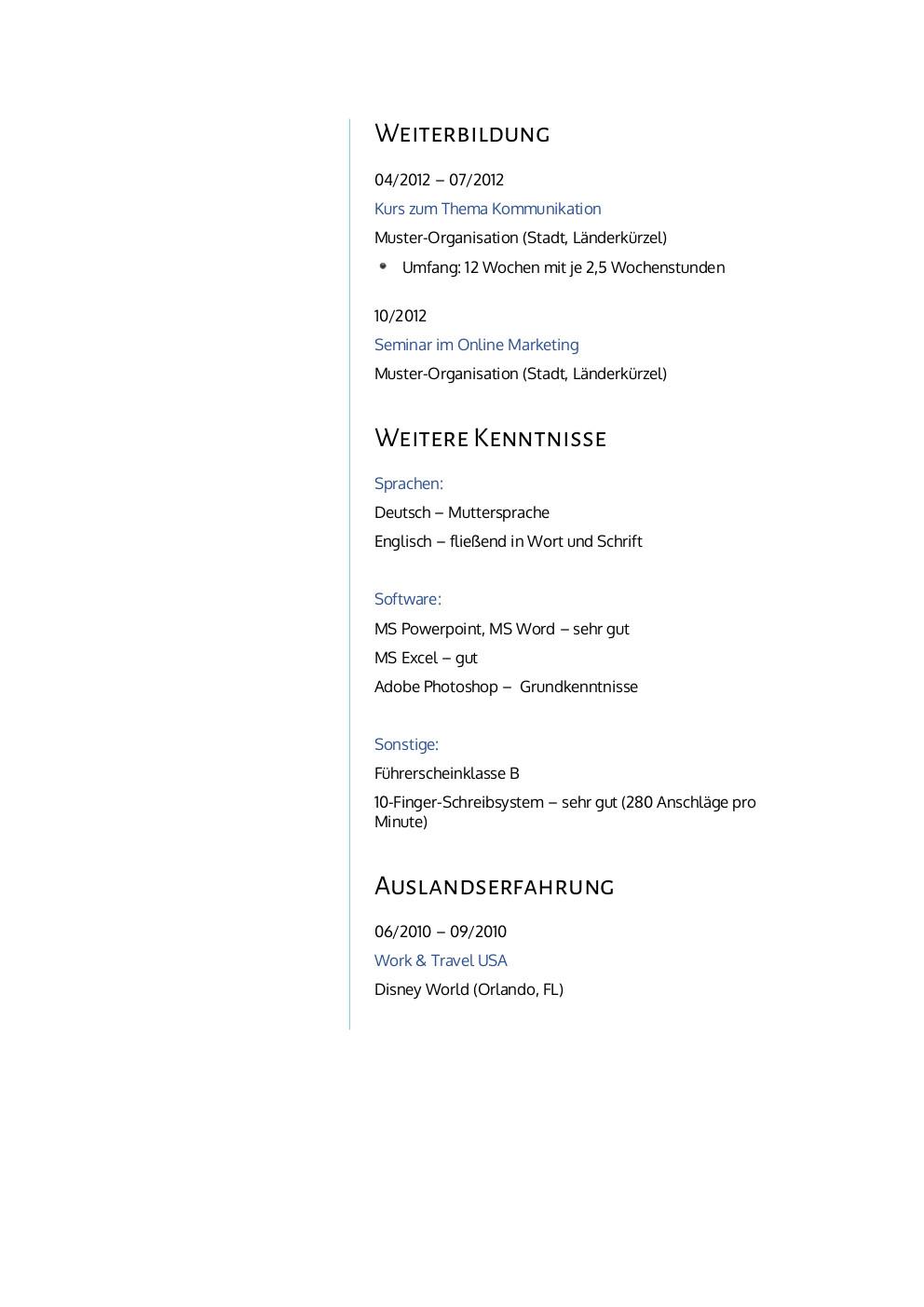 Erfreut Bauingenieur Regierung Lebenslauf Galerie - FORTSETZUNG ...
